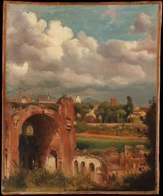 Charles Remond, French, View of the Basilica of Constantine from the Palatine, Rome