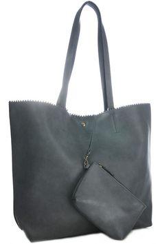 97227afb3b1 bags · Shopper kartelrand grijs
