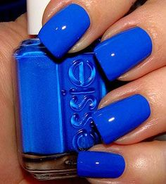 love this blue nail polish !! <3