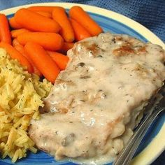 Awesome Baked Pork Chops ~ These chops remain moist and tender, and the sauce is to die for! You probably have all the ingredients in your kitchen to make this! Serve these chops over rice! (all recipes pork) Pork Recipes, Crockpot Recipes, Cooking Recipes, Recipies, Porkchop Recipes Crockpot, Cooking Time, Cooking Corn, Cooking Turkey, Cooking Classes