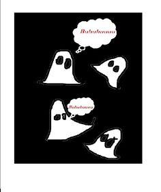 Felicitare cu fantome – cum facem o felicitare de halloween