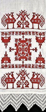 Scandinavian embroidered show towel