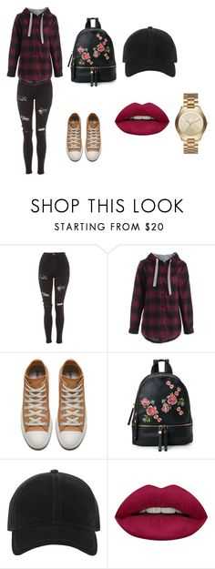 """""""dfdhjs"""" by alessiabazzurro on Polyvore featuring Topshop, Urban Expressions, rag & bone, Huda Beauty and Michael Kors"""