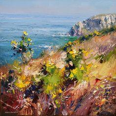 Rex PRESTON-Sunny Spring Day, Trevean Cliffs, Cornwall