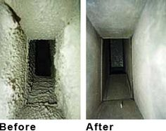 Pictures of Air Ducts Before and After Duct Cleaning