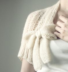 Tan Hand-knitted Shrug $60