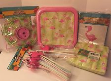 Let's Celebrate! Pink Flamingo Party Festival Decorations Collection Set Summer Gala NWT