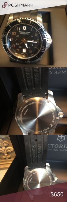 Watch victorinox Victorinox swiss army watch, mens ,is almost new only use it about 5 times, reasonable offers, please thank you .. victorinox Accessories Watches