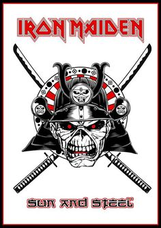 Sun and Steel by Crusader Art. Iron Maiden Posters, Iron Maiden Albums, Iron Maiden Band, Where Eagles Dare, King Diamond, Bruce Dickinson, Metal Albums, Nu Metal, Heavy Metal Bands