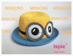 this is a pattern for baby hat, with the most popular image minions. Minion Crochet Patterns, Baby Hat Patterns, Crochet Baby Hats, Cute Crochet, Minions, Minion Baby, Most Popular Image, Headbands, Knitting