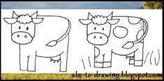 Another very easy to draw cow. This is one of the cow drawing out of three that I have in here. Let me know if none of them work for you an...