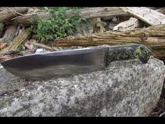 Knife making - Making knife out of leaf spring - YouTube
