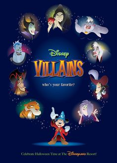Disney Villains! ...My Favorite?  Really!?! ...Seriously?