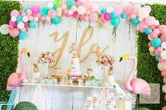 Ysla's Tropical Themed Party - Main setup