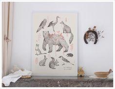 Affiche Animaux de la Forêt Clémence Dupont - L'Affiche Moderne