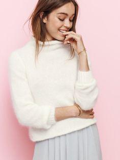 21 colors! Turtle neck Angora sweater, Wool sweater, Angora sweater women,  Exclusive knitwear, Winter sweater, White Angora sweater ba5163d5472