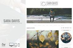 Sara Davis - Wordpress Theme. WordPress Photography Themes. $38.00