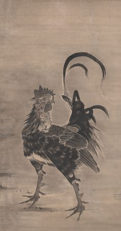 Exhibition – The Hidden Code of Animals in Japanese Art – at Bakersfield Museum of Art, March 11 – May 30 – Japanese Art & Culture in LA Japanese Animals, Chickens And Roosters, Japanese Prints, Japan Art, Ink Painting, Art Plastique, Woodblock Print, Art Google, Art Museum