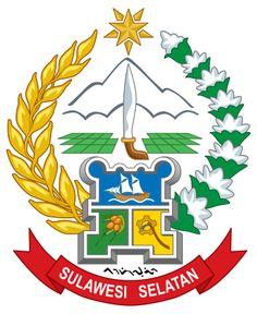 Berkas:Coat of arms of South Sulawesi. Star Logo, Coat Of Arms, Makassar, Glow, 1, Logos, Design, Stamps, Joker