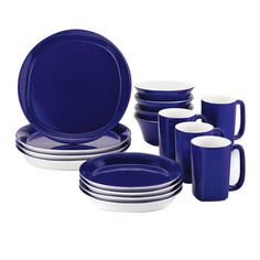 Rachael Ray 16-Piece Dinnerware Set in Blue  at Joss and Main