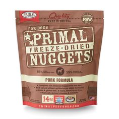 Primal Pet Food Freeze-Dried Canine Pork Formula 14 oz, FREE treat with  purchase