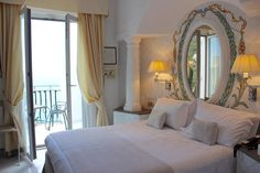 Our beautiful room with a view at Hotel Villa Franca.