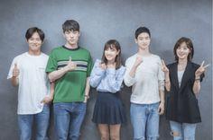 """School Cast Holds First Table Script Reading With Full Cast Korean Drama Romance, Korean Drama 2017, Korean Drama Movies, School2017 Kdrama, Kdrama Actors, Kim Joong Hyun, Jung Hyun, Kim Sejeong, Kim Jung"