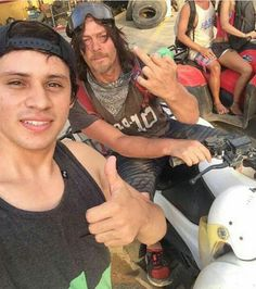 Norman Reedus and fan in Costa Rica.