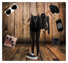 """""""Black is back"""" by oosammyoo on Polyvore featuring Mode, Calvin Klein, New Look, BA&SH, Casetify, Vans und Saachi"""