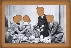 HANS-PETER FELDMANN Familie ohne Köpfe 25 2/5 × 37 3/5 in