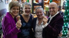 PR LGBTI  Nicola Sturgeon goes to Gay Wedding