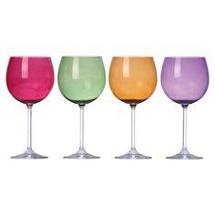 Harvest Balloons Wine Glasses