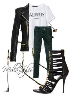 """Balmain X H&M"" by enticingmel on Polyvore"