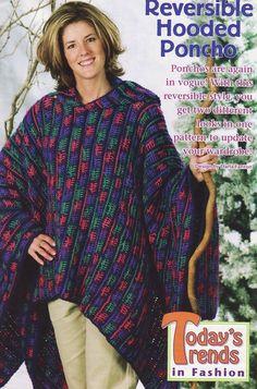 crochet women's poncho pattern   Free Crochet Hooded Poncho Patterns