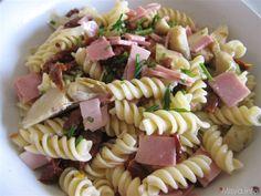 Insalata di pasta ai carciofini. Scopri la ricetta: http://www.misya.info/2010/07/05/insalata-di-pasta-ai-carciofini.htm