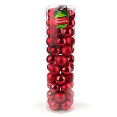 Red Shatterproof Ornament Cylinder, 55-Pack at Big Lots.  #BigLots