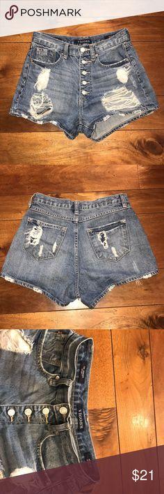 VIGOSS Little Girls Pixel Art Denim Shorts