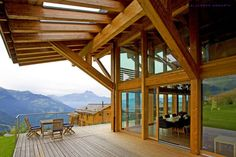 Chalet Solais – Swiss luxury ski chalet perched above the clouds in Villars, with Sir Norman Foster's architecture and Callender Howorth's interior design.