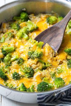 One+Pan+Cheesy+Chicken+Broccoli+and+Quinoa