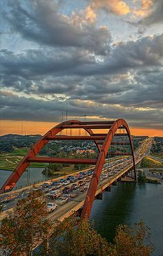 Pennybacker Bridge Austin Texas. Beauty we all get to see because of traffic.