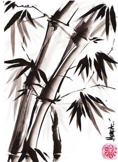 Sumi-e Bamboo not the ukio-e,but splash/brush sumi...wonderfull as such :)