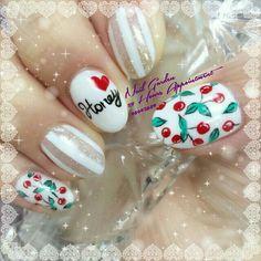 Cherry nail art