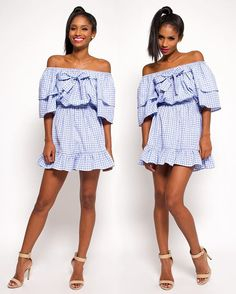Feeling blue in the flirty Chloe Dress by #DPiperTwins • available at zuvaa.com 💙