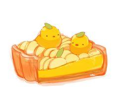 Birdie Peach Tart Pie - © pixiv member ID: 1096811 http://chai.wa-sanbon.com/top.html Artist @ twitter: drawingchisanne