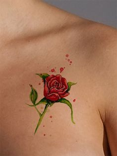 Now available at https://www.AsIfTattooed.com: Red Rose Tattoo. Check it out here! http://www.asiftattooed.com/products/rose?utm_campaign=social_autopilot&utm_source=pin&utm_medium=pin
