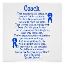 Coach Thank you poem