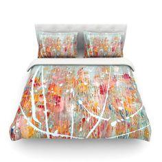 East Urban Home 'Joy' Splatter Paint by Iris Lehnhardt Featherweight Duvet Cover Size: