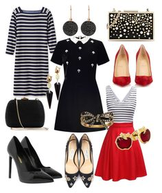 """""""Perfect Combinations"""" by aheavingham on Polyvore featuring L.L.Bean, Miss Selfridge, Yves Saint Laurent, Christian Louboutin, Jimmy Choo, Karl Lagerfeld, Serpui, Astley Clarke, Marc Jacobs and Alexis Bittar"""