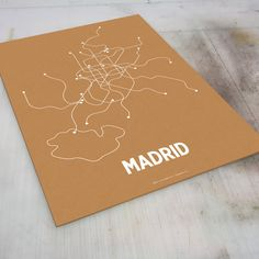 Madrid Lineposter Screen Print - Orange/Pearl White. $28.00, via Etsy. pretty, but won't really help me memorize the map. these things are more for people who've already lived a place their whole life.