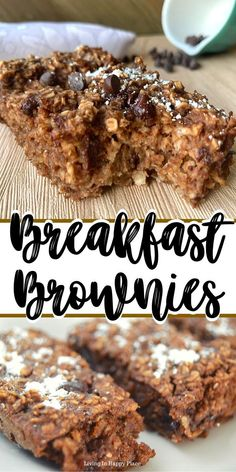 Recipes Oatmeal This healthy twist on breakfast brownies will knock your socks off! If you are looking for healthy breakfast recipe ideas, you must try these flourless, dairy free, chocolate baked oatmeal bars. Easy healthy breakfast brownies for kids. Healthy Oatmeal Breakfast, Breakfast Bake, Healthy Breakfast Recipes, Healthy Baked Oatmeal, Breakfast Ideas, Healthy Meals To Cook, Healthy Baking, Healthy Food, No Bake Oatmeal Bars